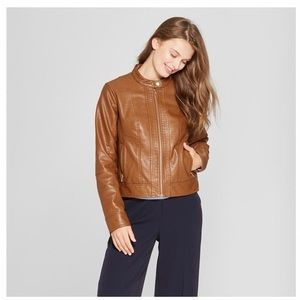 A New Day Cognac Brown Faux Leather Jacket